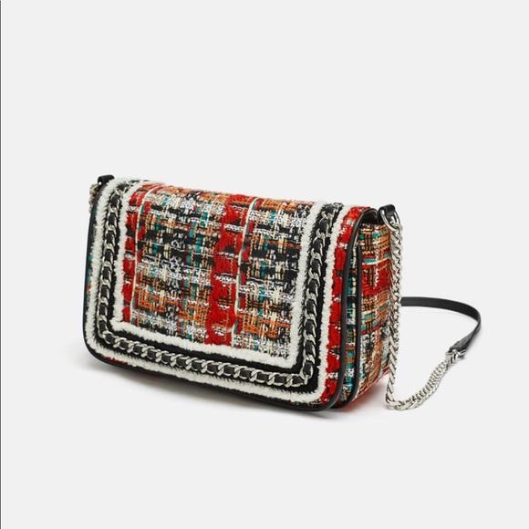 New with tags multi tweed  Zara purse.